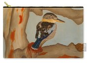 Magnificent Blue-winged Kookaburra Carry-all Pouch by Brian Leverton