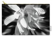 Magnolia Flower In Black And White Carry-all Pouch