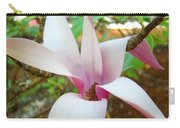 Magnolia Flowering Tree Art Prints White Pink Magnolia Flower Baslee Troutman Carry-all Pouch