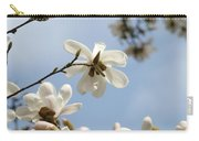 Magnolia Flowers White Magnolia Tree Art 2 Blue Sky Giclee Prints Baslee Troutman Carry-all Pouch
