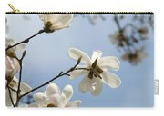 Magnolia Flowers White Magnolia Tree Spring Flowers Artwork Blue Sky Carry-all Pouch