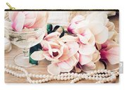 Magnolia Flowers With Pearls Carry-all Pouch