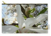 Magnolia Tree Flowers Art Prints White Magnolia Flower Carry-all Pouch