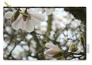 Magnolia Tree Flowers Pink White Magnolia Flowers Spring Artwork Carry-all Pouch