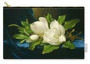 Magnolias On A Blue Velvet Cloth Carry-all Pouch