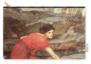 Maidens Picking Flowers By The Stream Carry-all Pouch