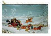 Mail Coach In The Snow Carry-all Pouch
