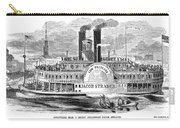Mail Steamboat, 1854. /nthe Louisville Mail Company Steamboat Jacob Strader. Wood Engraving, 1854 Carry-all Pouch