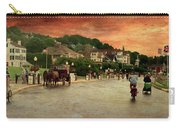 Main Street Mackinac Island Michigan Panorama Textured Carry-all Pouch