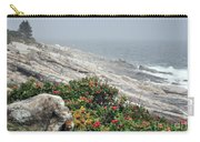 maine 13 Pemaquid Lighthouse Shoreline Before Storm Carry-all Pouch