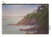 Maine Coast Abode - Art By Bill Tomsa Carry-all Pouch