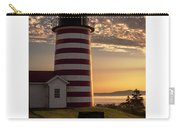 Maine Good Morning West Quoddy Head Lighthouse Carry-all Pouch