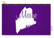 Maine In White Carry-all Pouch