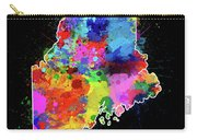 Maine Map Color Splatter 2 Carry-all Pouch