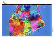 Maine Map Color Splatter 3 Carry-all Pouch