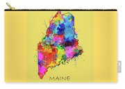 Maine Map Color Splatter 4 Carry-all Pouch