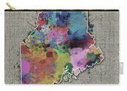 Maine Map Color Splatter 5 Carry-all Pouch