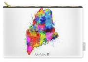 Maine Map Color Splatter Carry-all Pouch