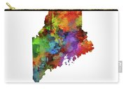 Maine Map Watercolor Carry-all Pouch