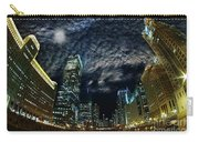 Majestic Chicago - Windy City Riverfront At Night Carry-all Pouch