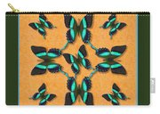 Majestic Green Swallowtail Wheel Carry-all Pouch