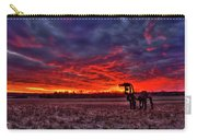 Majestic Red Clouds Winter Sunset The Iron Horse Art Carry-all Pouch