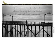 Make A Small Moment A Great Moment - Black And White Art Carry-all Pouch