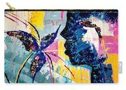 Make A Wish Abstract Art Figure Painting  Carry-all Pouch