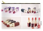 Makeup Set Of Lipsticks Isolated Carry-all Pouch