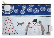 Making A Snowman At Christmas Carry-all Pouch