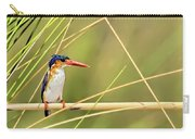 Malachite Kingfisher On Watch Carry-all Pouch
