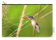 Malachite Kingfisher On The Hunt Carry-all Pouch