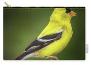 Male American Golden Finch On Twig Carry-all Pouch