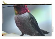 Male Anna's Hummingbird On Feeder Perch Carry-all Pouch