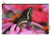 Male Black Swallowtail Butterfly On Echinacea Plant Carry-all Pouch