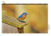 Male Blue Bird Guarding House Carry-all Pouch