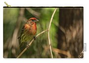 Male Finch In Red Plumage Carry-all Pouch