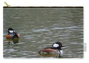 Male Hooded Mergansers Carry-all Pouch