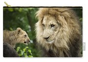 Male Lion And Cub Carry-all Pouch