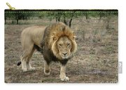 Male Lion On Alert Carry-all Pouch