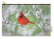 Male Northern Cardinal In Winter Carry-all Pouch