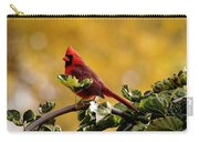 Male Northern Red Cardinal Carry-all Pouch