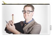 Male Office Pa Writing In Diary. Event Planner Carry-all Pouch by Jorgo Photography - Wall Art Gallery