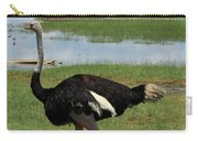 Male Ostrich Carry-all Pouch