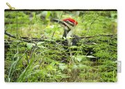 Male Pileated Woodpecker On The Ground No. 2 Carry-all Pouch