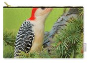 Male Red Bellied Woodpecker In A Tree Carry-all Pouch