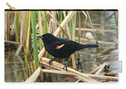 Male Red Winged Blackbird Carry-all Pouch