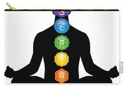 Male Silhouette Chakra Illustration Carry-all Pouch
