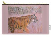 Adult Male Tiger Of India Striding At Sunset  Carry-all Pouch