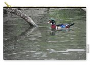 Drake Wood Duck On Pond Carry-all Pouch